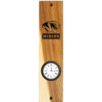 Mizzou Etched Tiger Head Wooden Wall Mount Clock