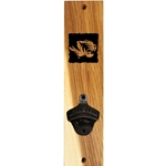 Mizzou Etched Tiger Head Wooden Wall Mount Bottle Opener