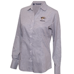 Mizzou Cutter & Buck Women's Black & White Dress Shirt