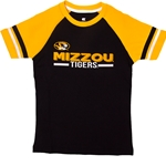 Mizzou Kids' Oval Tiger Head Black & Gold T-Shirt