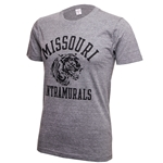 Missouri Intramurals Vintage Tiger Grey Crew Neck T-Shirt