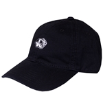 Mizzou Embroidery Tiger Head Black Relaxed Twill Hat