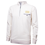 Mizzou Horn Legend Embroidery Columns Off White 1/2 Zip Sweatshirt