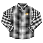 Mizzou Toddlers' Black Checkered Print Dress Shirt with Tiger Head
