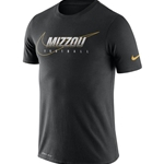 Mizzou Nike® Football Black Athletic T-Shirt