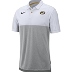 Mizzou Nike® Oval Tiger Head White and Grey Polo