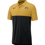 Mizzou Nike® Oval Tiger Head Black and Gold Polo