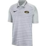 Mizzou Nike® Oval Tiger Head Stripe Grey Polo