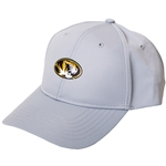 Mizzou  Metallic Finish Oval Tiger Head Grey Hat