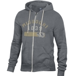 Missouri Tigers 1839 Junior's Full Zip Grey Hoodie