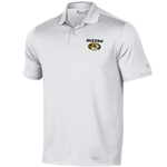 Mizzou Oval Tiger Head Under Armour White Polo