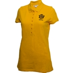 Mizzou Retro Tiger Logo Women's Gold Polo