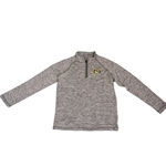 Mizzou Oval Tiger Head Youth 1/4 Zip Grey Jacket