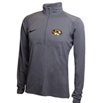 Mizzou Nike® Oval Tiger Head Grey 1/4 Zip Jacket