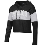 Mizzou Champion Black and White Cropped Hoodie
