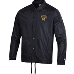 Mizzou Champion Block M Collared Black Snap Jacket