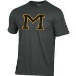 Mizzou Champion Block M Charcoal Grey T-Shirt
