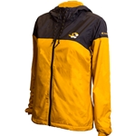 Mizzou Tiger Head Junior's Black and Gold Windbreaker Full Zip Jacket