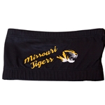 Missouri Tigers Tiger Head Black Bandeau Top
