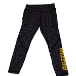 Mizzou Space Dye Black Leggings