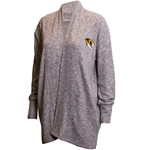 Mizzou Tiger Head Women's Grey Fleece Cardigan