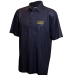 Mizzou Columns Wicking Black Polo