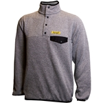 Mizzou Est 1839 Grey Knit 1/4 Snap Jacket