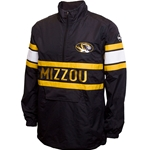 Mizzou Oval Tiger Head Black 1/4 Zip Windbreaker Jacket