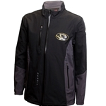 Mizzou Tigers Oval Tiger Head Black Full Zip Jacket
