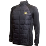 Mizzou Oval Tiger Head Black Full Zip Fleece Lined Jacket