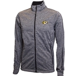 Mizzou Oval Tiger Head Heather Grey Fleece Lined Full Zip Jacket