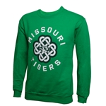 Missouri Tigers Oval Tiger Head Celtic Knot Kelly Green Sweatshirt