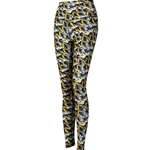Mizzou Tiger Head Stacked LogoBlack and Gold Leggings