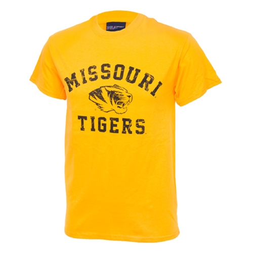 Missouri Tigers Gold Crew Neck T-Shirt