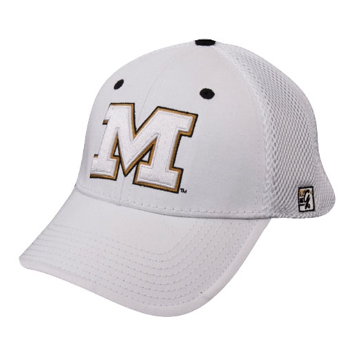Mizzou White Stretch-Fit Hat