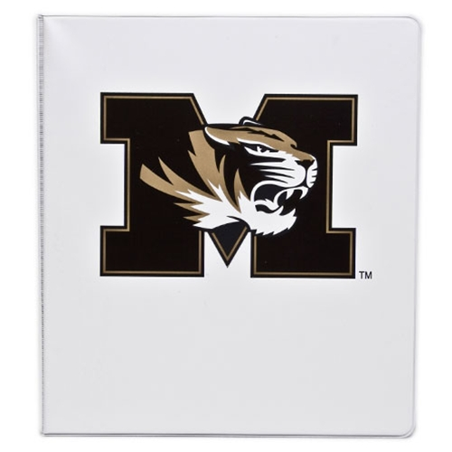 "Mizzou Tiger Head White 1"" Three-Ring Binder"