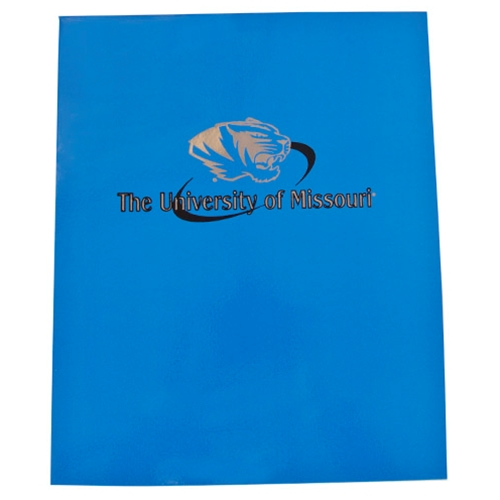 University of Missouri Tiger Head Blue Folder