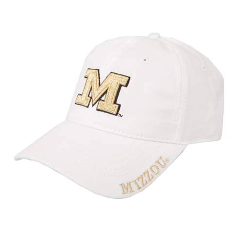 Mizzou Juniors' Metallic Gold & White Adjustable Hat