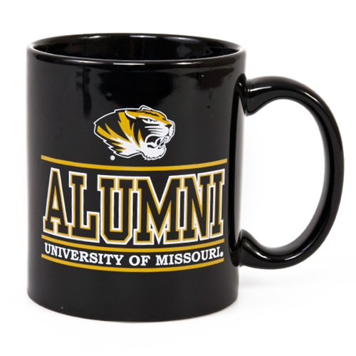 University of Missouri Alumni Tiger Head Black Mug