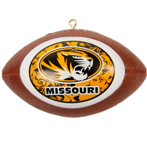 Missouri Oval Tiger Head Mini Football Replica Ornament