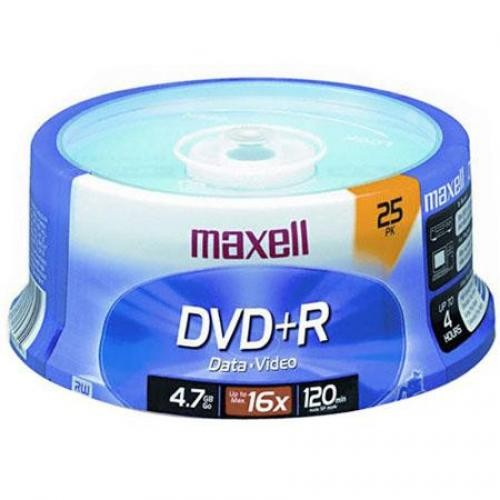 Maxell DVD+R 16X Recordable Media 25 Pack Spindle