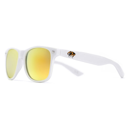 Mizzou Tiger Head White Sunglasses