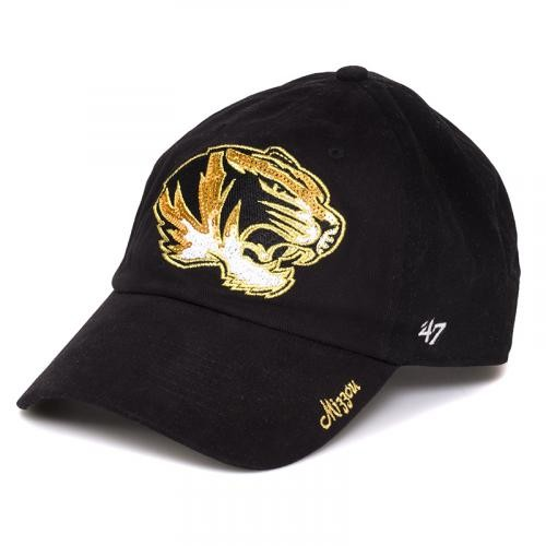 Mizzou Tigers Juniors' Sequin Black Adjustable Hat