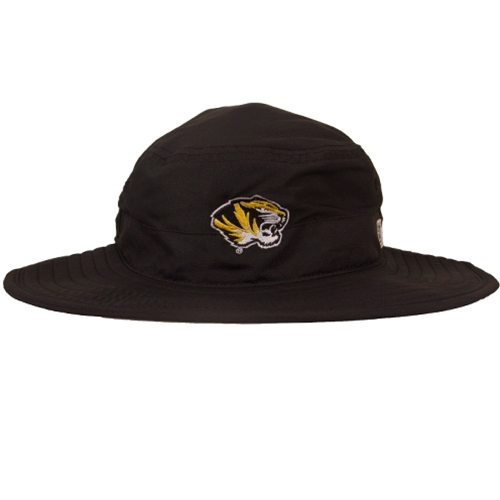 5c4d662d8280d The Mizzou Store - Mizzou Tiger Head Ultra Light Black Bucket Hat