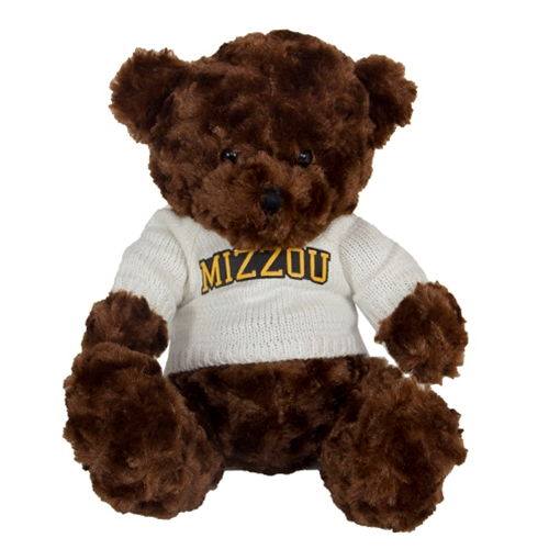 "Mizzou 10"" Stuffed Brown Bear with Sweater"