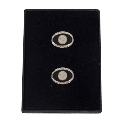 Mizzou Official Seal Silver Cuff Links