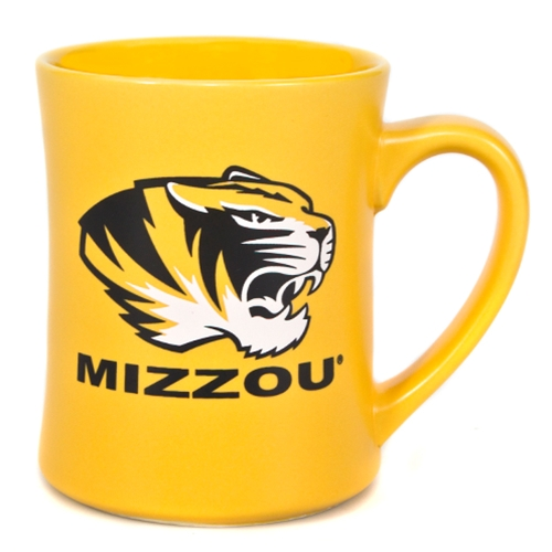 Mizzou Tiger Head Gold Matte Diner Mug