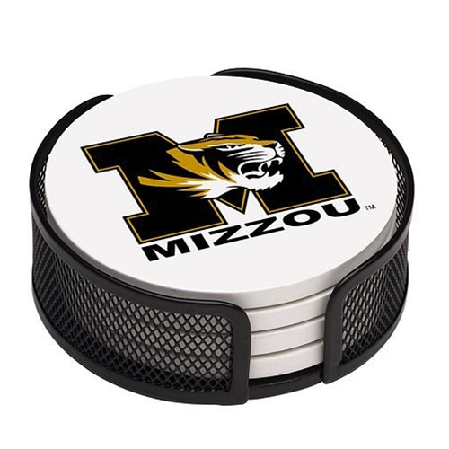 Mizzou Tiger Head Coaster Set