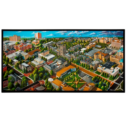 Mizzou White Campus Print Note Card