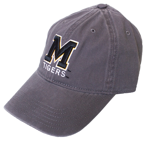 Mizzou Charcoal Adjustable Hat